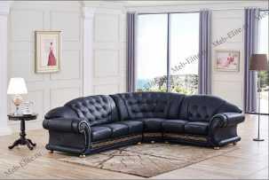 Версаче диван угловой черный
