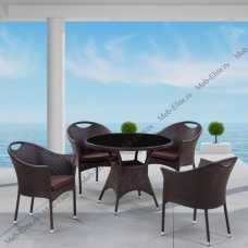 Комплект мебели (иск.ротанг) 4+1 T190B-1/ Y197B