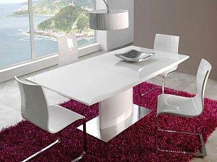 ЕСФ столовая комплект: стол обеденный 160/200х90 Дюпен DT-01  + стулья 1003 4 шт. глянец
