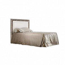 Тиффани кровать 120х200 штрих-серебро