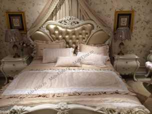 Эстелла кровать 180х200  белая с пуговицами