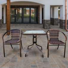 Комплект мебели Асоль-2В (иск. ротанг) TLH-037B/073B-60x60