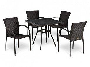 Комплект мебели 4+1 Т283BNT-W2390/ Y282А-W52-4PCS иск. ротанг