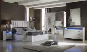 Гемма спальня комплект: кровать 160+2 тумбы прикроватные+комод с/з+шкаф-купе