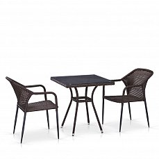 Комплект мебели 2+1 T282BNT/Y35-W2390 Brown 2Pcs иск. ротанг