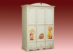 Французкие мотивы шкаф 3 дверный (детская)