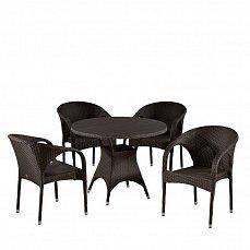 Комплект мебели 4+1 T190AD/Y290B-W52 Brown 4Pcs иск. ротанг