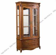 Карпентер 230-1 витрина 2 дверная орех светлый тон