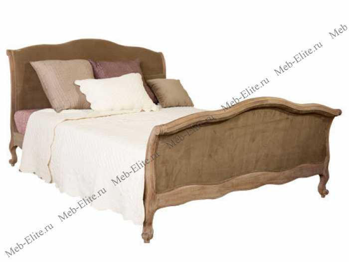 Кровать оливковый бархат Ля Труфе с основанием 180x200