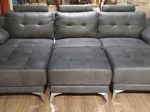 Мик диван 3 местный с оттоманкой MK-4709-GRF