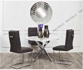 Гарда обеденная группа: стол обеденный 120х120 30F-911  + 3 стула 30C-854GR