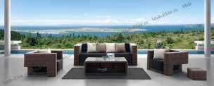 Ротанг Гранада комплект:диван 2 местный+стол журнальный+тумба+2 кресла
