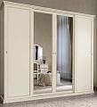 Аврора шкаф 4 дверный с зеркалом (белый)