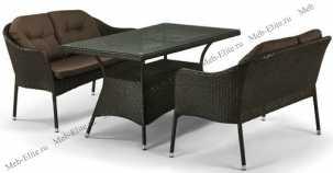 Комплект мебели с диванами 2+1 T198A/S54A-W53 Brown иск. ротанг