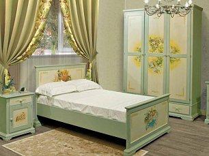 Примавера шкаф 3 дверный (роспись весенняя,элегия)