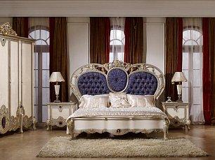 Шанель 3911 спальня комплект: кровать 180х200 + 2 тумбы прикроватные + туалетный стол с зеркалом + шкаф