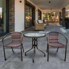 Комплект мебели Асоль-1В (иск. ротанг) орех TLH-037B/087B-60