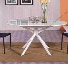 Мик стол обеденный 115/155х115 MK-5902-BW