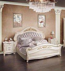 Касандра спальня комплект: кровать 180х200+2 тумбы прикроватные+стол туалетный с зеркалом