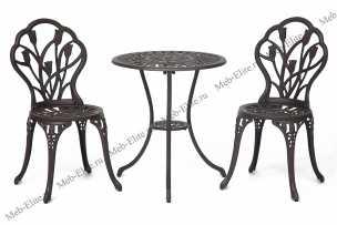Жардин комплект Вальс Цветов: стол + 2 стула бронза