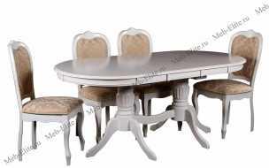 Мик столовая комплект: Оливия стол обеденный 150/185х90 MK-1215-BW + 4 стула