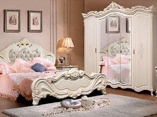 Элиза (SL) спальня комплект: кровать 180х200+тумба прикроватная 2шт.+туалетный стол с/з+шкаф 5 дверный