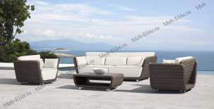 Ротанг Ривьера: комплект:диван 3 местный+стол журнальный+2 кресла