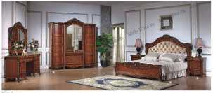 Камилла 3295 спальня комплект: кровать180+2тумбы прикроватные+шкаф 4дверный+стол с/з
