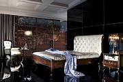 Версаль кровать 180х200 с пуговицами (венге)