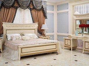 Эридан 3917 спальня комплект: кровать 180х200 + 2 тумбы прикроватные + туалетный стол с зеркалом + шкаф 6 дверный