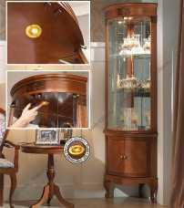 Панамар (Panamar) витрина угловая 809.001 + буфет (основание под витрину) 889.000 орех/вишня