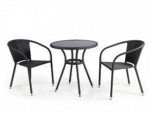 Комплект мебели 2+1 T282ANS/Y137C-W53 Brown 2Pcs иск. ротанг