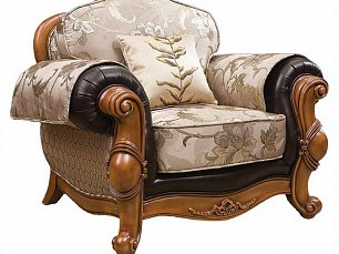 Карпентер 230-1 диван  С 1 местный (Орех, ткань JY5680-3 /JY6118-3/2857кожа/JY6120-3/D10033C-3GF)