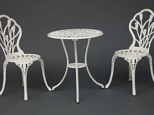 Жардин комплект Вальс Цветов: стол + 2 стула белый
