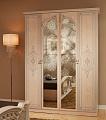 Рим  шкаф 4 дверный с зеркалом бежевый
