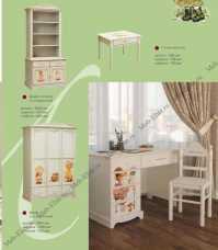Французкие мотивы шкаф-стеллаж 2 двери (детская)