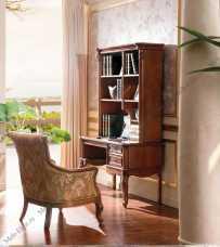 Карпентер 230-1 стол письменный с книжным стеллажом орех