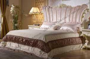 Роял кровать 180х200 слоновая кость+золото