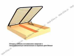 Опора с гибким основанием с подъемным механизмом и ящиком для белья 180х200