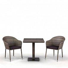 Комплект мебели 2+1 T601DG/Y375G-W1289 Pale 2Pcs иск. ротанг