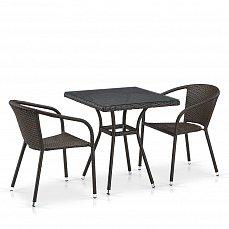 Комплект мебели 2+1 T282BNT/Y137C-W53 Brown 2Pcs иск. ротанг