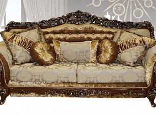 Венеция №6 диван-кровать 3 местный орех