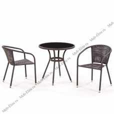 Комплект мебели (иск. ротанг)  2+1 T282ANS/ Y137B-W51-2PCS