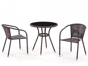 Комплект мебели 2+1 T282ANS/ Y137B-W51-2PCS иск. ротанг