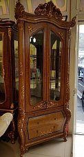 Алонзо витрина 2 дверная угловая