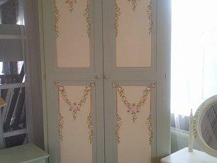 Розы (Примавера) шкаф 2 дверный
