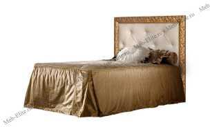 Тиффани кровать 120х200 с мягким элементом со стразами и подъемным механизмом штрих-золото
