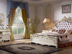Венеция К спальня комплект: кровать 180х200 + 2 тумбы прикроватные + туалетный стол с зеркалом + 5 дверный шкаф (без пуфа)