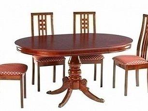 Мик столовая комплект: стол обеденный 107/153х107 MK-1605-MC + 4 стула MK-1609-MC