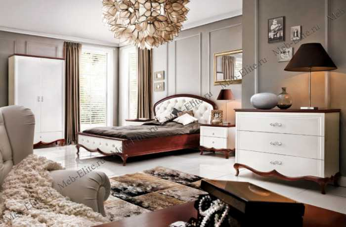Милана спальня белая